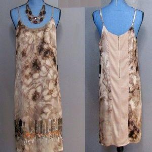 NWT Line & Dot Floral Light Brown Sequin Dress L